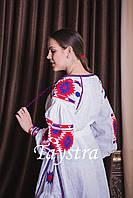 Бохо платье женское вышитое  бохо, вышиванка лен, этно, стиль бохо шик, вишите плаття вишиванка