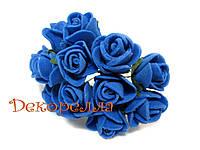 Букет роз из фоамирана 2см (синие)