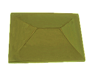 "Крышка для забора LAND BRICK ""китай"" желтая 310х310 мм"