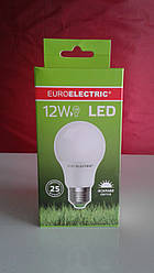 Лампочка LED 12Вт Е27 яркий свет 4000К EuroElectric
