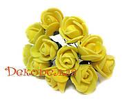 Букет роз из фоамирана 2см (желтые)