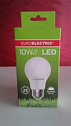 Лампочка LED 10Вт Е27 яркий свет 4000К EuroElectric