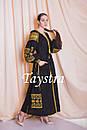 Платье черное бохо вышиванка лен, этно, стиль бохо шик, вишите плаття вишиванка, Bohemian,выпускное платье, фото 4