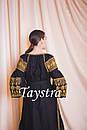 Платье черное бохо вышиванка лен, этно, стиль бохо шик, вишите плаття вишиванка, Bohemian,выпускное платье, фото 6