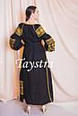 Платье черное бохо вышиванка лен, этно, стиль бохо шик, вишите плаття вишиванка, Bohemian,выпускное платье, фото 9
