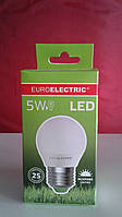 Лампочка LED 5Вт Е27 яркий свет 4000К EuroElectric
