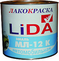 Эмаль автомобильная МЛ-12. ОАО Лакокраска г.Лида, Белоруссия  2 кг, желто-зеленая