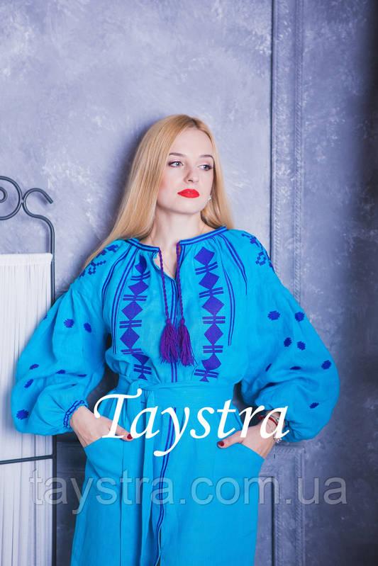 Вышитое платье  бохо вышиванка лен, этно, стиль бохо шик, вишите плаття вишиванка, Bohemian,стиль Вита Кин