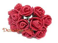 Букет роз из фоамирана 2см (кораловые)