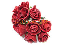 Букет роз из фоамирана 2см (красные)