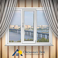 Трехстворчатое металлопластиковое окно Rehau