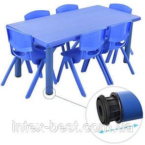 Детский столик со стульчиками TABLE1-4 регулируемая высота (Синий), фото 2