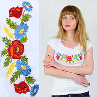 Женская футболка с вышивкой Жатка белая