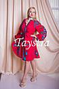 Платье красное вышитое бохо вышиванка лен, этно, стиль бохо шик, вишите плаття вишиванка, Bohemian, фото 5
