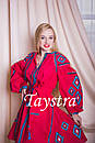 Платье красное вышитое бохо вышиванка лен, этно, стиль бохо шик, вишите плаття вишиванка, Bohemian, фото 3