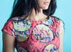 Женское нарядное летнее белое платье с цветами 42, фото 6