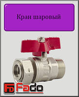 """Кран шаровый Fado NEW 3/4"""" с накидной гайкой (прямой)"""
