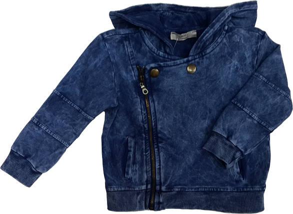 Кофта с капюшоном джинсовая ТМ Cikoby размеры 80, фото 2