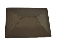 "Крышка для забора LAND BRICK ""китай"" коричневая 310х430 мм"