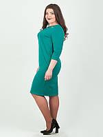 Трикотажное женское платье больших размеров