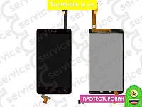 Модуль  HTC 400 Desire Dual Sim/T528w One SU (дисплей + тачскрин), чёрный