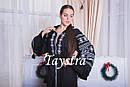 Черное стильное вечернее платье  бохо вышиванка лен,этно,бохо шик,вишите плаття,на свадьбу, выпускное платье, фото 6