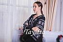 Черное стильное вечернее платье  бохо вышиванка лен,этно,бохо шик,вишите плаття,на свадьбу, выпускное платье, фото 7