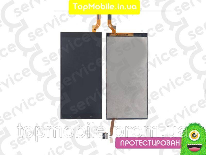 Дисплей HTC 700 Desire Dual Sim + сенсор черный ( модуль, стекло)