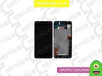 Модуль  HTC 802w One M7 Dual Sim (дисплей + тачскрин), чёрный, с передней панелью чёрного цвета