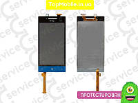 Модуль  HTC A620e Windows Phone 8S Domino (дисплей + тачскрин), синий
