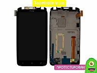 Модуль  HTC S720e One X G23 (дисплей + тачскрин), чёрный, с передней панелью