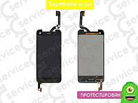 Модуль  HTC X920d Butterfly (дисплей + тачскрин), чёрный