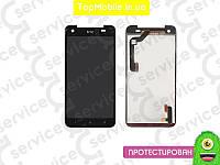 Модуль  HTC X920e Butterfly (дисплей + тачскрин), чёрный