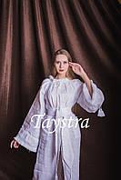 Белое стильное вечернее платье  бохо вышиванка лен,этно,бохо шик,вишите плаття,на свадьбу, выпускное платье