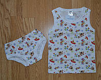 Комплект нижнего белья  КОРАБЛИКИ для мальчика (майка и трусы)
