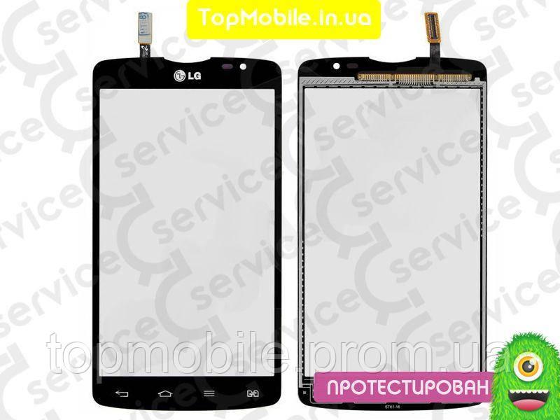 Сенсор LG D380 L80 Dual Sim, черный (тачскрин, стекло)