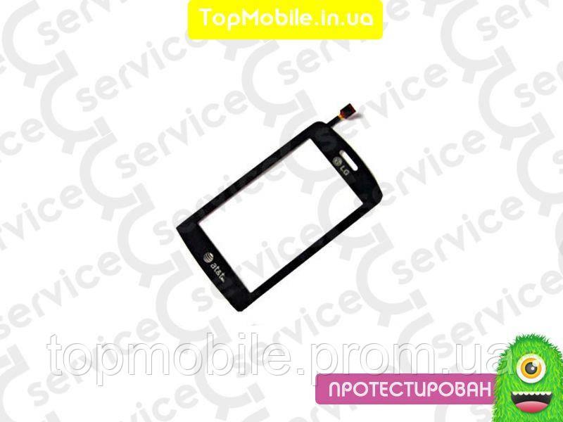 Сенсор LG GR500, черный (тачскрин, стекло)