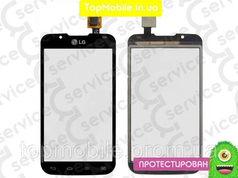 Сенсор LG P715 Optimus L7 II Dual Sim, черный, оригинал (Китай) (тачскрин, стекло)