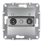 Розетка телевизионная - радио TV-R оконечная, алюминий Sсhneider Electric Asfora Шнайдер Асфора