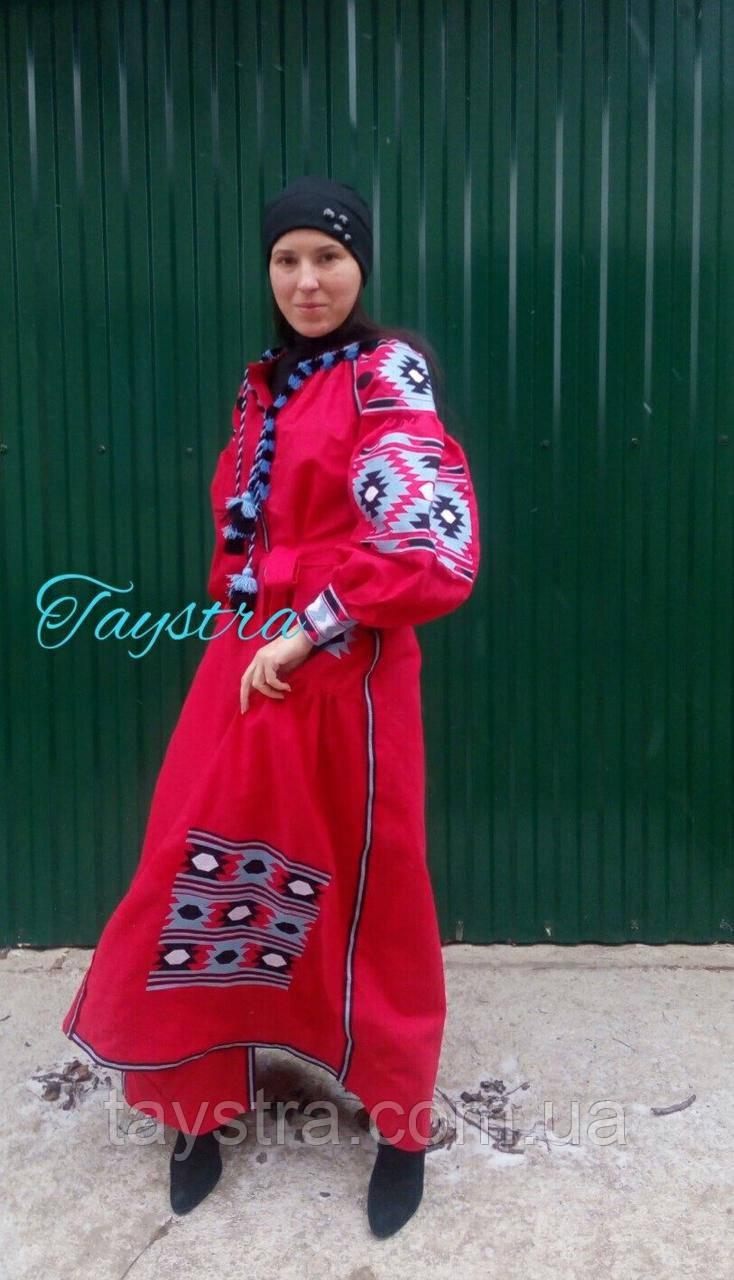 Вышитое платье бохо вышиванка лен 4dfb01640b023