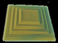 """Крышка для забора LAND BRICK """"каскад"""" желтая 430х310 мм"""
