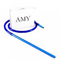 Трубка AMY Deluxe Long силиконовая моющаяся для кальяна удлиненный мундштук (разные цвета) шланг