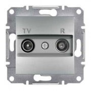 Розетка телевизионная - радио TV-R проходная 4 dB, алюминий Sсhneider Electric Asfora Шнайдер Асфора