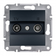 Розетка телевизионная - радио TV-R проходная 8 dB, антрацит Sсhneider Electric Asfora Шнайдер Асфора