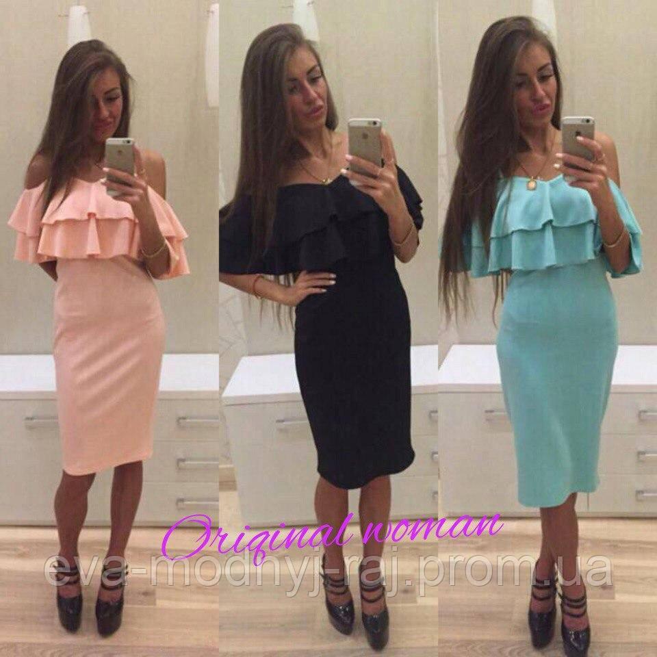 5cbf6c44c6b1 Платье женское волан  продажа, цена в Харьковской области. платья ...