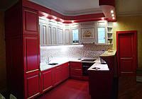 Красная кухня в стиле баррокко, фото 1