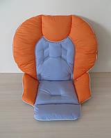 Чехол на стульчик Chicco Polly 2 в 1 комбинированный оранжевый + серый