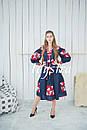 Платье  бохо вышиванка лен,4 клина, стиль бохо шик, вишите плаття вишиванка, Bohemian,стиль Вита Кин, фото 8