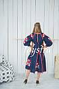 Платье  бохо вышиванка лен,4 клина, стиль бохо шик, вишите плаття вишиванка, Bohemian,стиль Вита Кин, фото 3