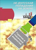 Плакат «Не допускай попадания на землю горючих и токсичных жидкостей»